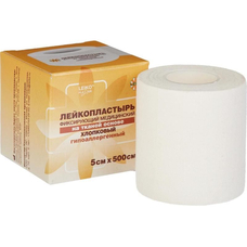 Лейкопластырь  на тканой основе / хлопковый / белого цвета, 5 см х 500 см