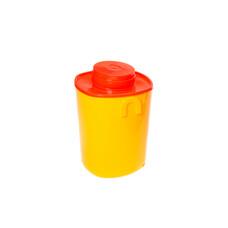 Емкость - контейнер 1,5л квадратный  15 см с иглосъемником 30 шт