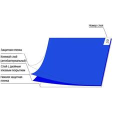 Дезинфицирующий коврик 115 x 45 см, 30 слоев , голубой цвет