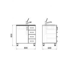 Лабораторный стол с мойкой МФ3-ТМ-07 / 13277