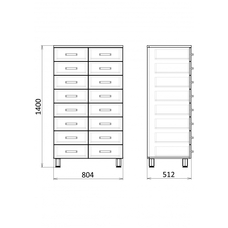 Медицинский шкаф для документов, МФ3-ШМЛ-02 / 13210