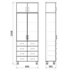 Медицинский шкаф для документов, МФ1-ШМЛ-11 / 13075
