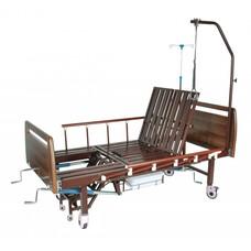 Кровать функциональная 3-х секционная механическая с санитарным оснащением DHC FF-2 с функциями / кардио-кресло / и переворачивания пациента