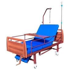 Кровать функциональная 3-х секционная механическая с санитарным оснащением DHC FE-2
