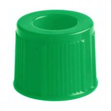 Крышка к пробирке 13 мм, цвет зеленый, 1000 шт