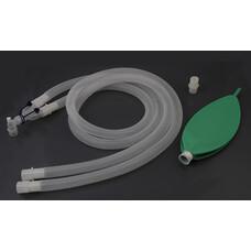 Контур дыхательный анестезиологический гофрированный, угловой переходник, 10 шт