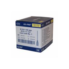 Игла одноразовая инъекционная стерильная, KD - Fine, 20G 0,9 х 40 мм, 100 шт