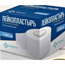 Лейкопластырь Медитек на тканевой основе индивид. упак. 3 х 500см 212шт