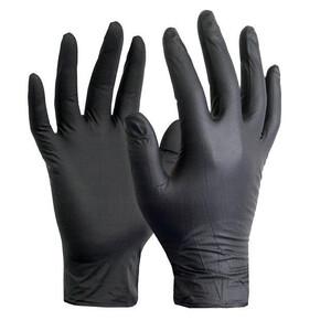 Wally Plastic перчатки нитриловые черные 100 шт размер XL
