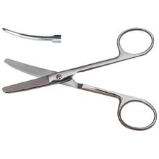 Ножницы глазные тупоконечные вертикально-изогнутые, ТС 113 мм