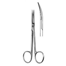 Ножницы глазные для снятия швов, изогнутые, 110 мм