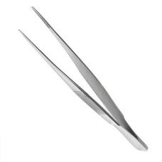 Пинцет анатомический глазной, прямой 100x0,6 мм