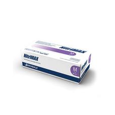 Перчатки медицинские нитриловые NitriMAXэластичныелиловые 200шт размер L