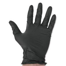 Перчатки медицинские виниловые ViniMAX неопудренные черные 100шт размер M