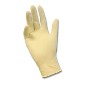 Перчатки медицинские латексныеDeMAX смотровые желтые 100шт размер S