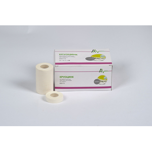 Круоцинк1.25x500 фиксирующий рулонный пластырь на текстильной основе с оксидом цинка 24 шт