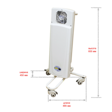 Облучатель-рециркулятор воздуха ультрафиолетовый бактерицидный / ДЕЗАР-КРОНТ / 802п передвижной