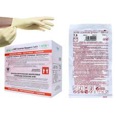 Перчатки SFM хирургические стерильные неопудренные с валиком 100 шт размер 6,0