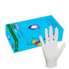 Перчатки нитриловые белые Nitrile 100 шт размер М