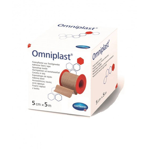 OMNIPOR фикс. пластырь из нетканого матер. /белый/ 5см * 5м, 1шт.