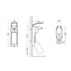 ER T - диспенсер пластиковый для жидкого мыла и антисептических средств, 1000 мл