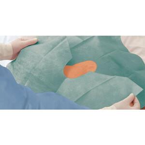 Foliodrape Protect двухслойные простыни с изменяемым отверстием стерильные 75*90см, 40шт.