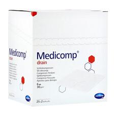 MEDICOMP drain steril Салфетки /стерильные/ 10 * 10 см, 6 слоев, 25*2 шт.