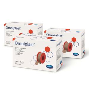 OMNIPLAST фикс. пластырь из текстильной ткани /цвет кожи/ 1,25см * 9,2м 24шт.