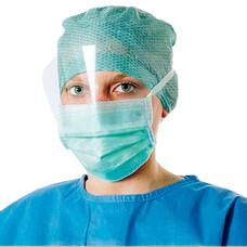 Foliodress mask Comfort anti splash visor противожидкостные маски с экраном голубой, 50шт.