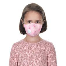 KN95 респиратор детский розовый (степень защиты FFP2)