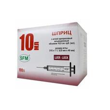 Шприц трехкомпонентный 10 мл 21G 0,8 х 40 мм Luer Lock 100 шт