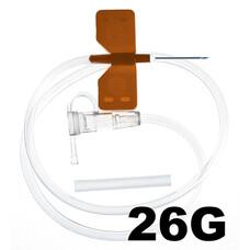 Игла - бабочка для вливания в малые вены SFM 26G 0,45x19 мм 100 шт