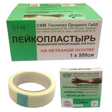 Лейкопластырь нетканая основа SFM Plaster 1,0 см х 500 см 30 шт