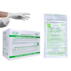 Перчатки синтетич. хирургич НИТРИЛОВЫЕ - 28 см Стерил. неопудр. текстур. Белые 100 шт размер 9,0