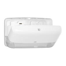Tork двойной диспенсер для туалетной бумаги в мини рулонах белый