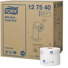 Tork туалетная бумага Mid size в миди рулонах белый