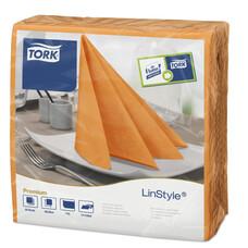 Tork LinStyle салфетки 39х39 оранжевые