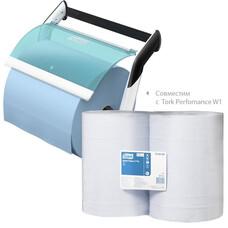 Tork базовая протирочная бумаг в рулоне синий