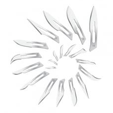 Лезвие одноразовое хирургическое, из углеродистой стали №10А, 100 шт